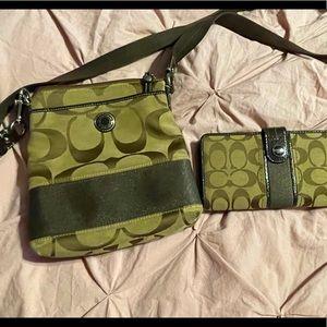 Coach Crossbody Bag w/ Matching Wallet